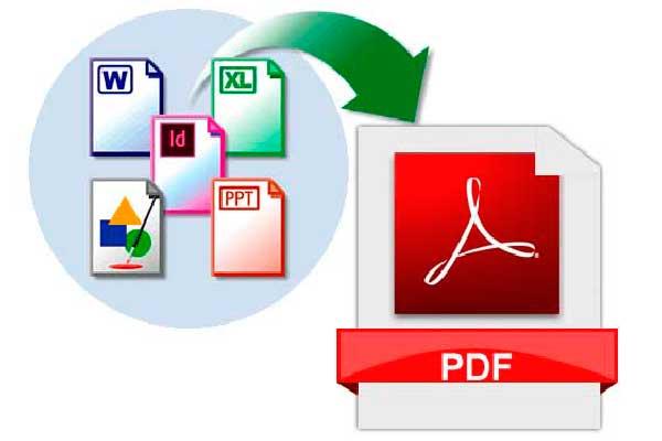 Arxius creats en diferents programes que s'han de convertir a PDF